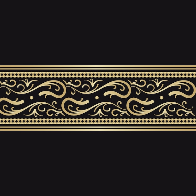Golden ornamental border concept Free Vector