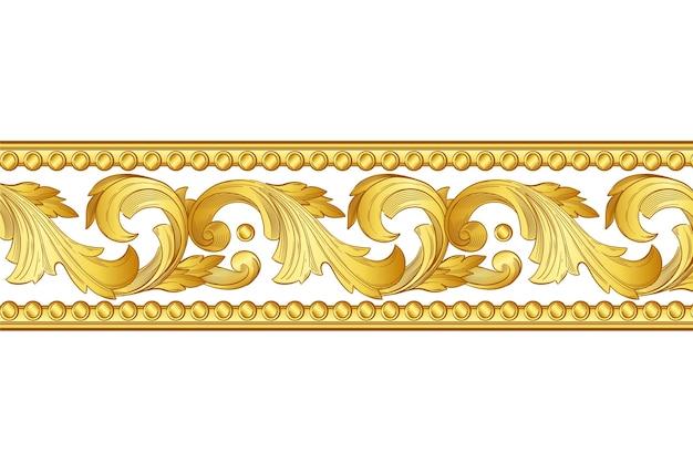 Golden ornamental border design Free Vector