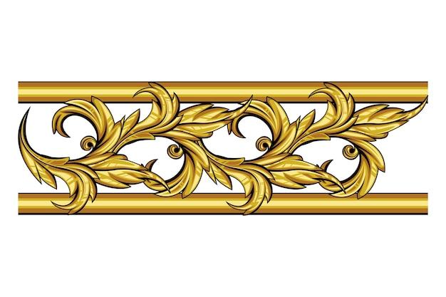 Golden ornamental border Free Vector