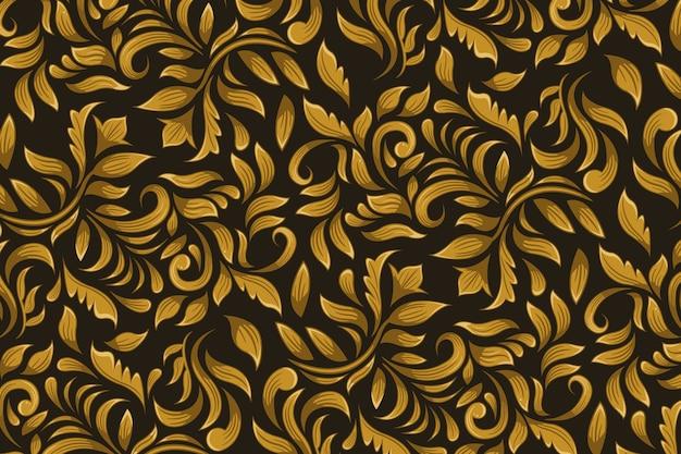 Golden ornamental floral background Free Vector