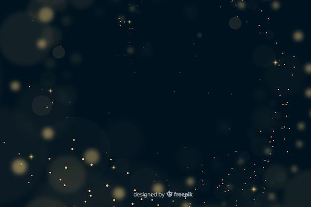 Золотые частицы боке Бесплатные векторы