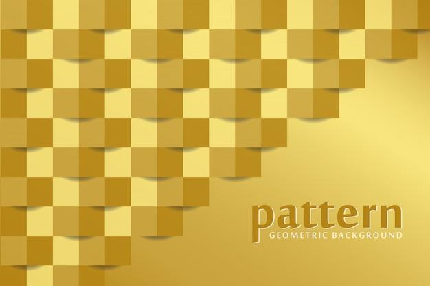 Golden pattern background Premium Vector