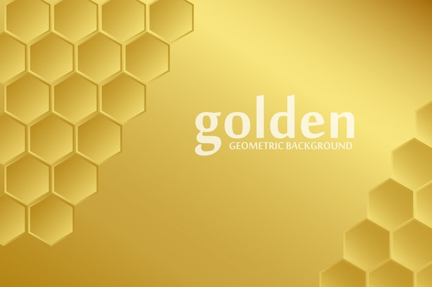 Golden pattern background Premium Vector