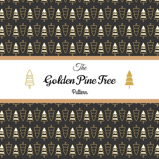 golden pine tree pattern vector premium download