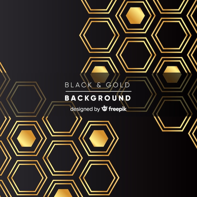 Golden polygonal background Free Vector