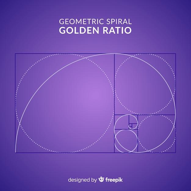Golden ratio background Free Vector