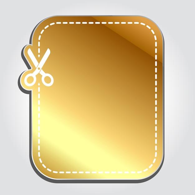 Золотой реалистичный тег скидка Premium векторы