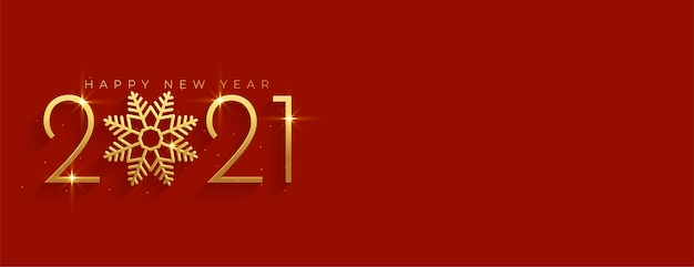Golden and red  happy new year with text space Free Vector