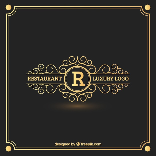 Restaurant Logo With A Red And Yellow Star On Top