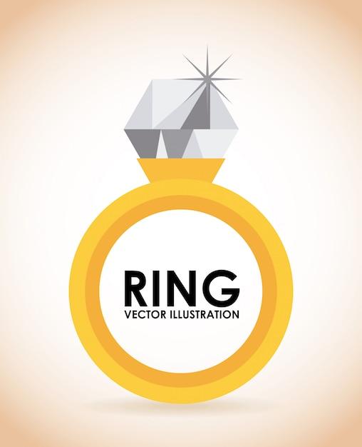 Golden ring Premium Vector