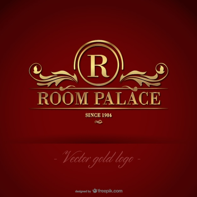 Golden room palace logo Free Vector