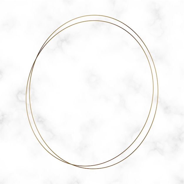 Golden round frame template Free Vector