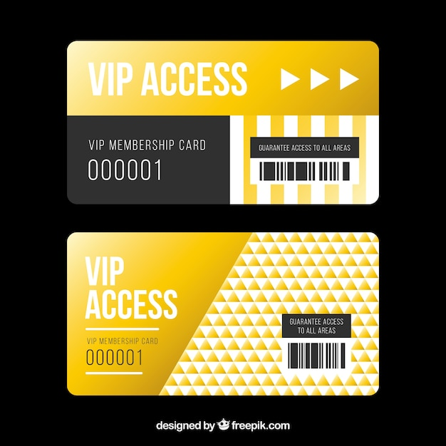 Golden set of vip access cards Vector | Free Download