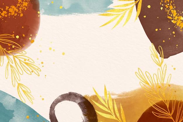 コピースペースの金色の色合いは背景を残します 無料ベクター