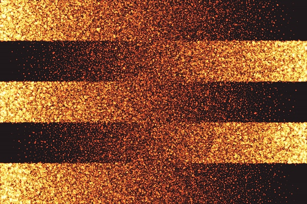 Golden shimmer glowing particles vector background Premium Vector