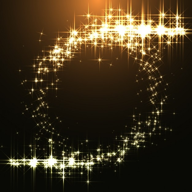 Golden shines background Free Vector