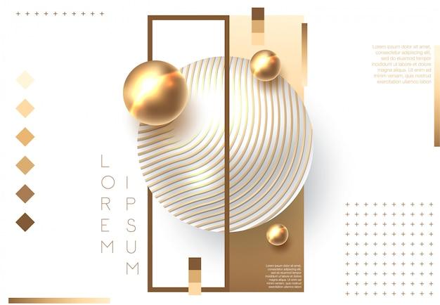 Golden shiny perl Premium Vector
