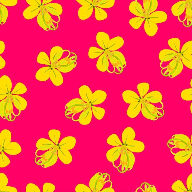 Золотой цветок для душа на розовом фоне Premium векторы
