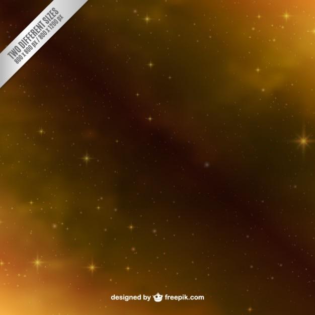 Golden space background