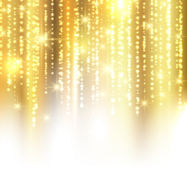 Golden sparkle background Free Vector