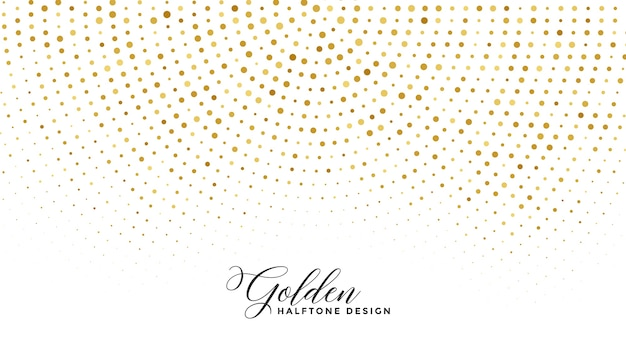白い背景の上の黄金の輝きハーフトーン 無料ベクター