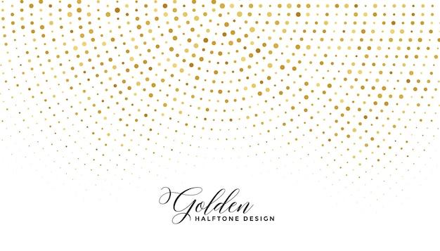 Mezzitoni scintilla dorata su sfondo bianco Vettore gratuito