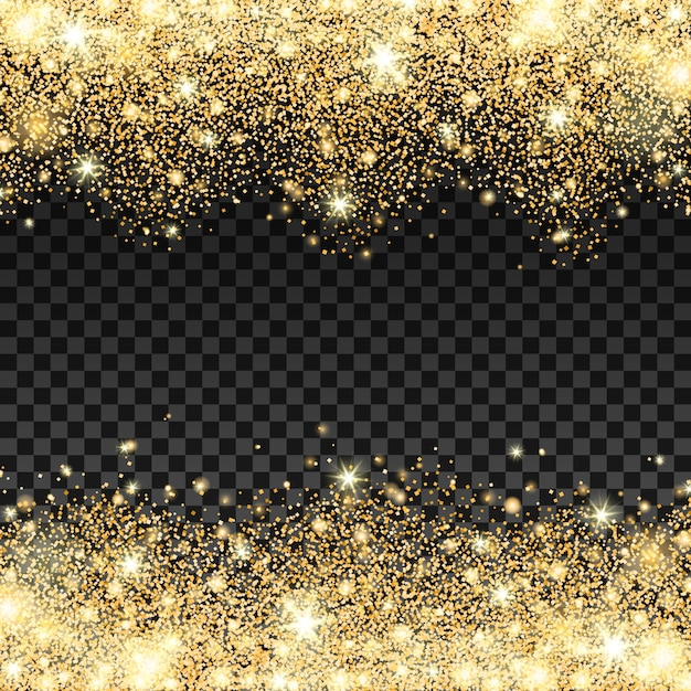 Golden sparkles background Vector  5b9c53b72879