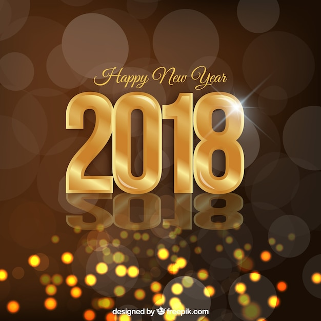 golden sparkly new year background free vector