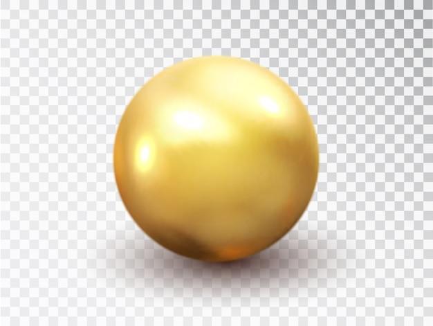 Golden sphere isolated Premium Vector