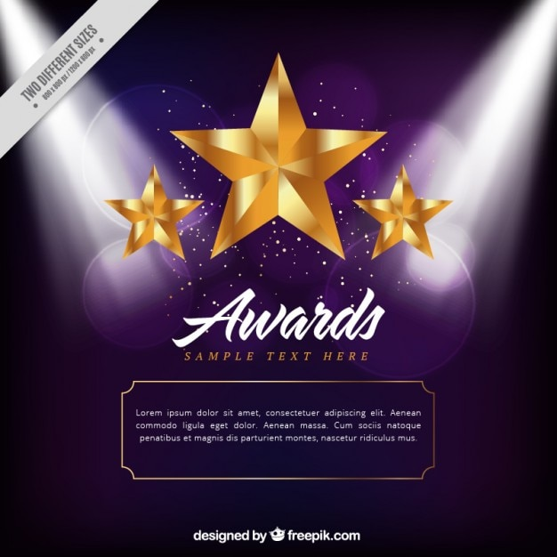 Awards background vectors photos and psd files free download golden stars award background pronofoot35fo Images