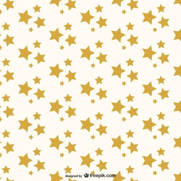 Golden stars pattern Free Vector