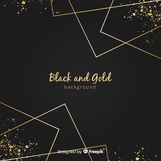 Golden straight lines background Premium Vector