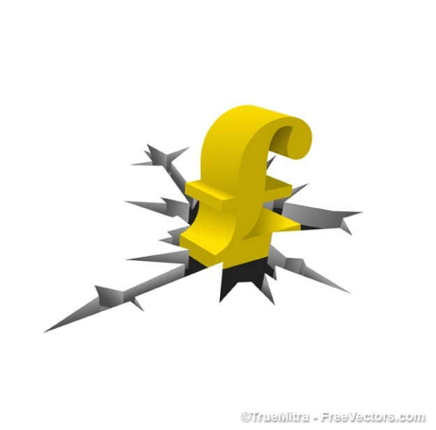 Golden Symbol Of The Pound Vector Free Download