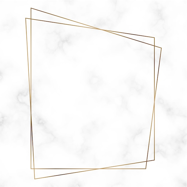 Golden trapezoid frame template Free Vector