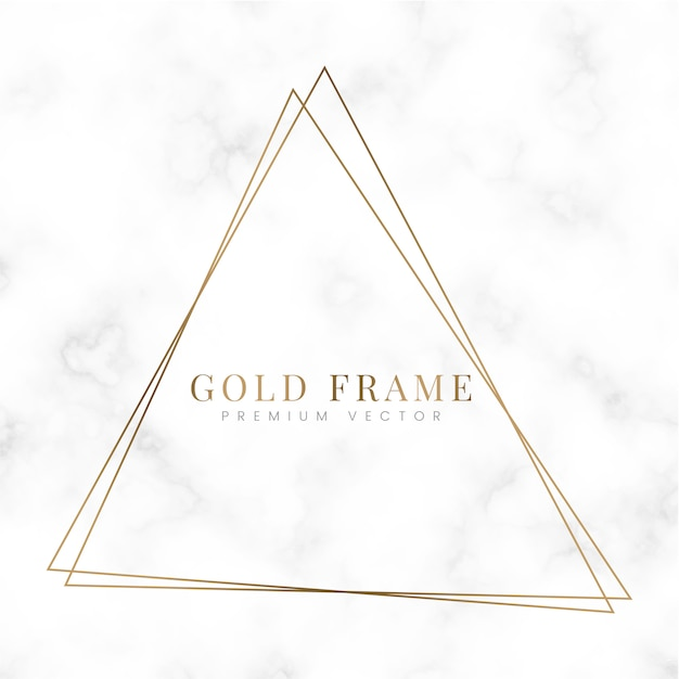 Golden triangle frame template Free Vector