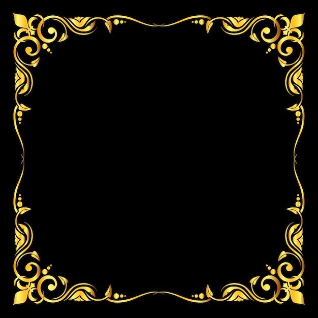 Golden Vector Ornate Royal Fleur De Lys Frame Vector