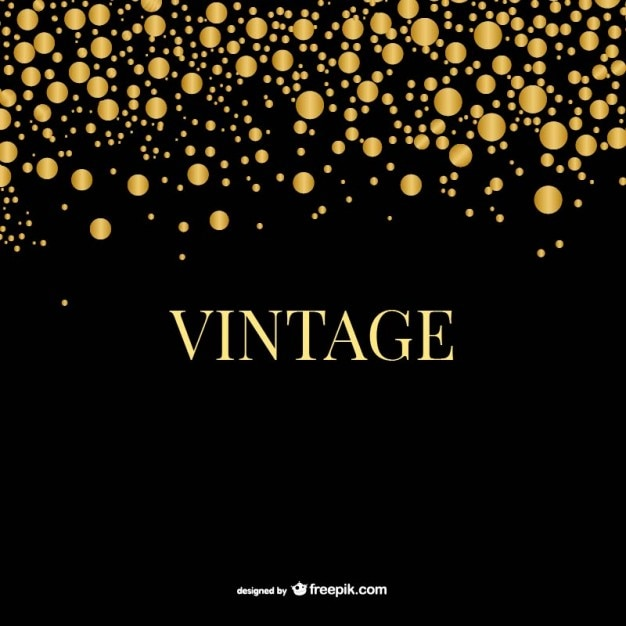 Golden vintage bubbles template Vector | Free Download