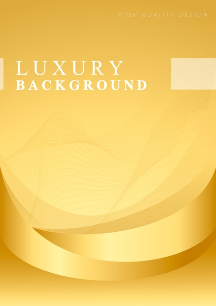 Golden wave abstract background vector Free Vector