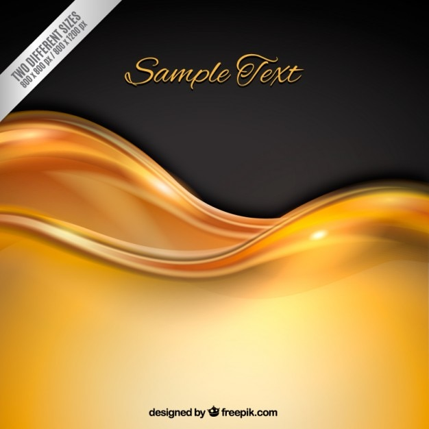Golden wave background Free Vector