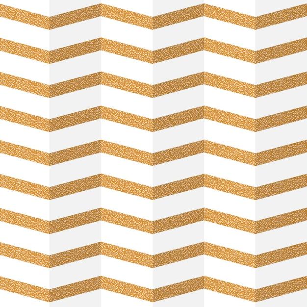 Golden zig zag paper seamless pattern Premium Vector