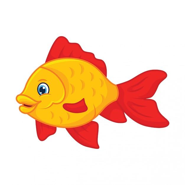 Goldfish cartoon Premium Vector