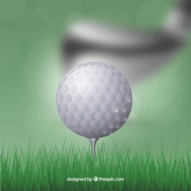 Golf background with blurred club