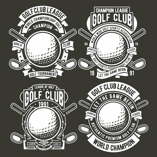 Golf badge logo Premium Vector