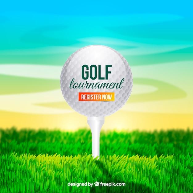 Golf ball design on grass
