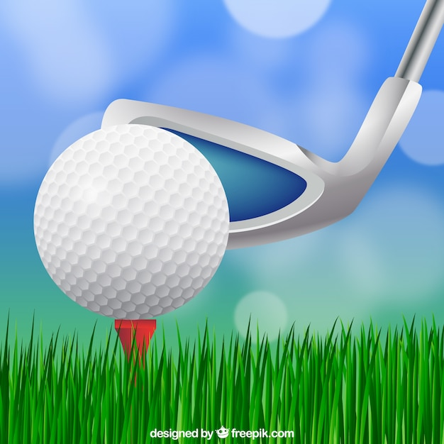 Golf ball design with club