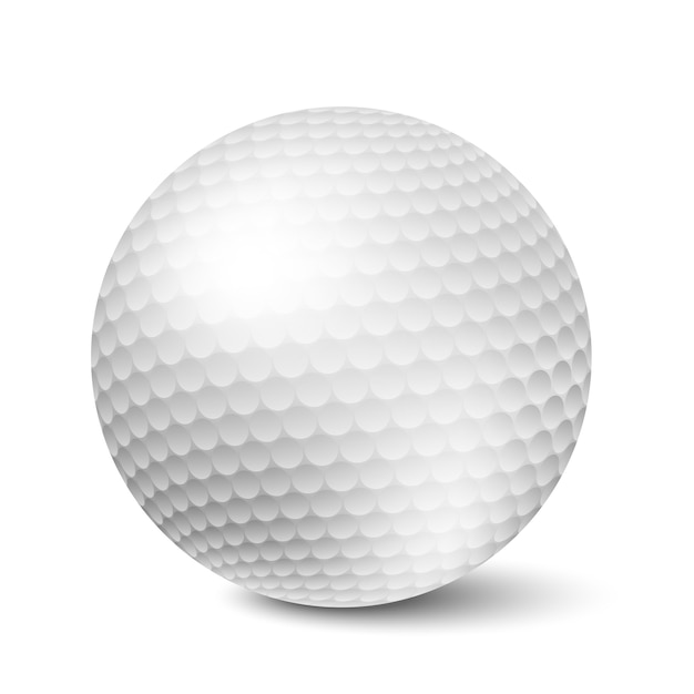 Golf ball isolated Free Vector