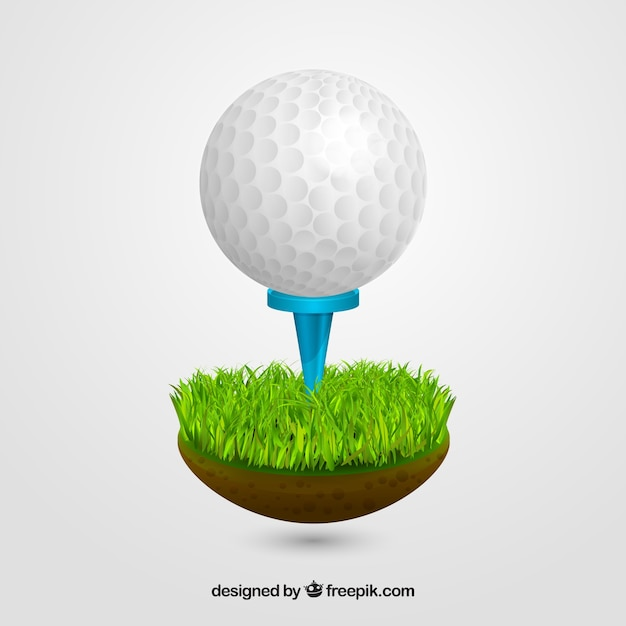 Golf Vectors | Free Vector Graphics | Everypixel Golf Ball On Tee Clipart