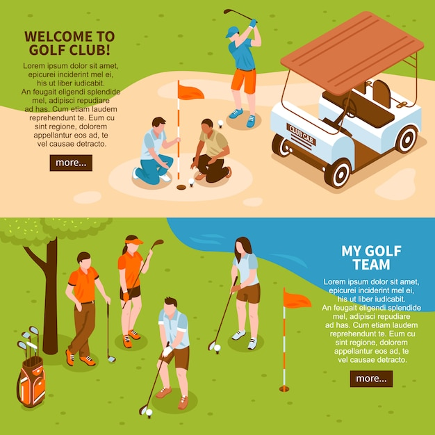 Golf banners set Free Vector
