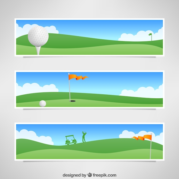 Golf Banners Vector Free Download