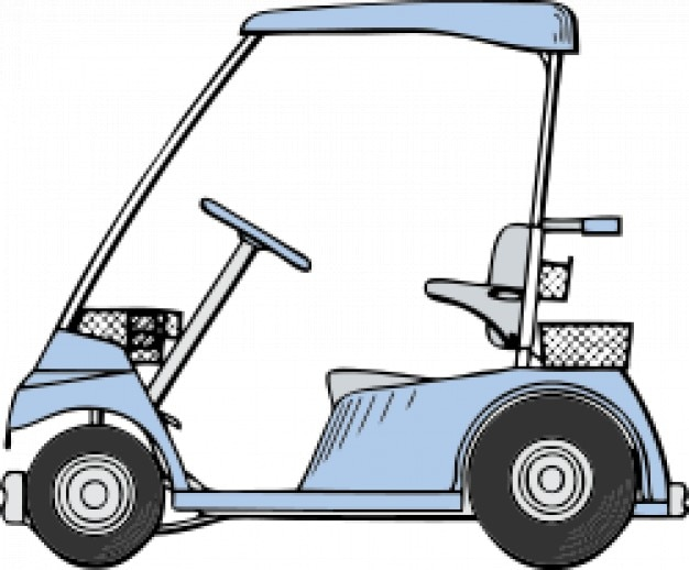 golf cart vector free download